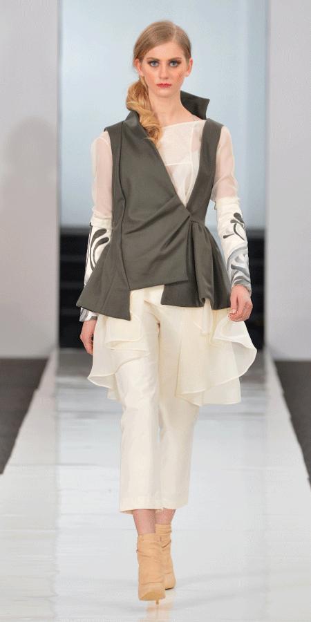 Gray Wool Vest